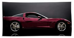Corvette Reflections Beach Towel by Douglas Pittman