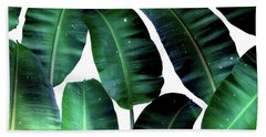 Cosmic Banana Leaves Beach Sheet