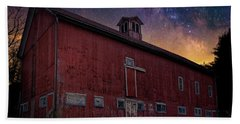 Beach Towel featuring the photograph Cosmic Barn Square by Bill Wakeley