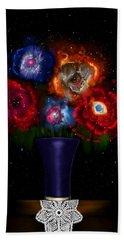 Cosmic Bouquet Beach Towel