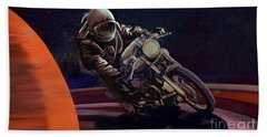 Cosmic Cafe Racer Beach Towel by Sassan Filsoof