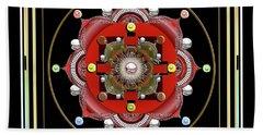 Cosmic Lotus Mandala Beach Sheet