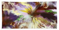 Beach Towel featuring the digital art The Flowering Of The Cosmos by Amyla Silverflame