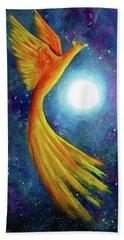 Cosmic Phoenix Rising Beach Towel