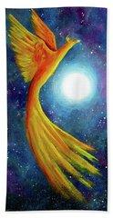 Cosmic Phoenix Rising Beach Sheet by Laura Iverson