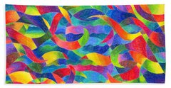 Cosmic Ribbons Beach Towel