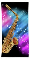 Cosmic Sax Beach Towel
