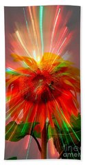 Cosmic Sunflower Beach Towel