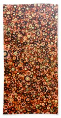 Beach Towel featuring the painting Cosmos by Tom Roderick