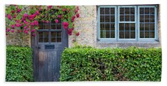 Beach Towel featuring the photograph Cotswolds Cottage Home by Brian Jannsen