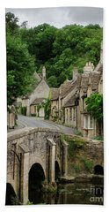 Cotswolds Village Castle Combe Beach Towel by IPics Photography