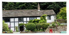 Traditional Cheshire Cottage At The Crossroad Beach Towel
