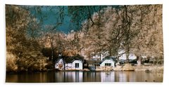 Cottage On The Lake Beach Towel