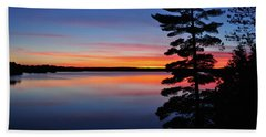 Cottage Sunset Beach Sheet by Keith Armstrong