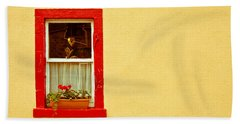 Cottage Window Beach Towel