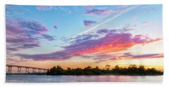 Cotton Candy Sunset Beach Towel