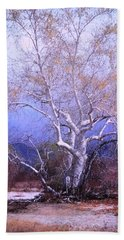 Cottonwood Tree Beach Sheet by M Diane Bonaparte