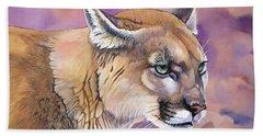 Cougar, Catamount, Mountain Lion, Puma Beach Sheet