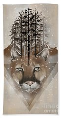 Cougar Beach Towel by Sassan Filsoof