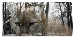 Cougar The Cunning One Beach Towel