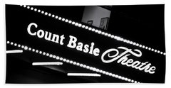 Count Basie Theatre In Lights Beach Towel