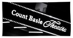 Count Basie Theatre In Lights Beach Sheet