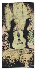 Country And Western Saloon Songs Beach Towel