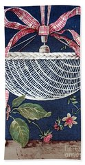 Beach Towel featuring the drawing Country Basket by Writermore Arts