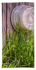 Country Bath Tub Beach Towel by Carolyn Marshall