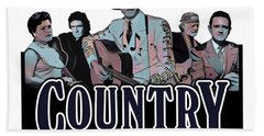 Authentic Country Blues Beach Towel