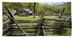 Country Cabin And Fence Beach Towel