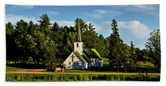 Country Church 003 Beach Towel by George Bostian
