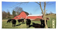 Country Cows Beach Towel