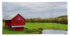 Beach Towel featuring the photograph Country In Ohio by Mary Timman