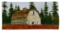Beach Towel featuring the painting Country Landscape by James Williamson