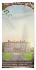 Country Mansion At Sunset Beach Towel