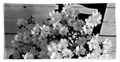 Country Porch In B And W Beach Sheet by Sherry Hallemeier
