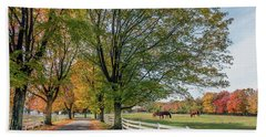 Country Road In Rural Maryland During Autumn Beach Towel