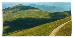 Country Road To My Home Whiteface Mountain New York Beach Sheet by Paul Ge