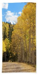 Beach Towel featuring the photograph Country Roads by David Chandler