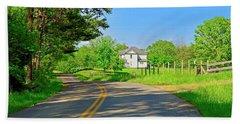 Country Roads Of America, Smith Mountain Lake, Va. Beach Towel