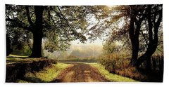 Country Roads Beach Towel by Ronda Ryan