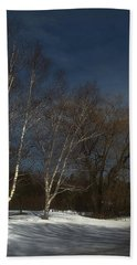 Country Roadside Birch Beach Towel