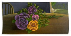 Country Roses Beach Sheet by Sheri Keith