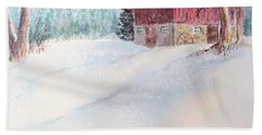 Country Snowscape Beach Towel