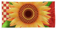 Country Sunflower Beach Towel