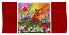 Country Sunrise Beach Towel by Donna Blackhall