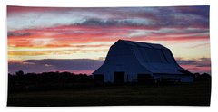 Beach Towel featuring the photograph Country Sunset by Cricket Hackmann
