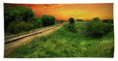 Country Tracks 2 Beach Towel