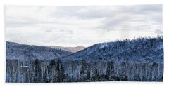 Country Winter Road Beach Towel